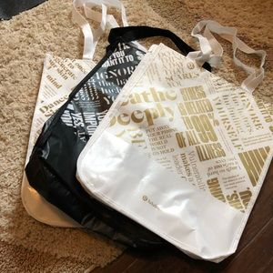 3 Lululemon bags, large
